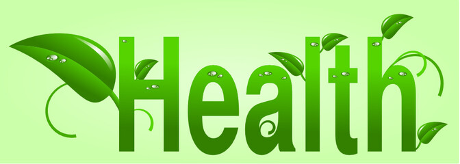 Green health and environmental concern in text