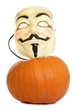 Pumpkin and guy fawkes mask