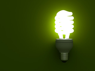 Eco energy saving compact fluorescent light bulb