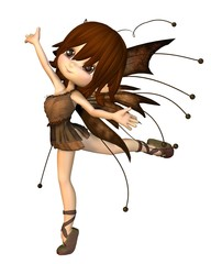 Cute Toon Autumn Fairy