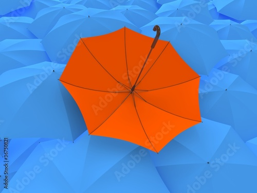 The turned umbrella