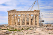 Reconstruction of Greek Parthenon on  Acropolis in Athens