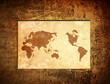 scratch vintage world map.