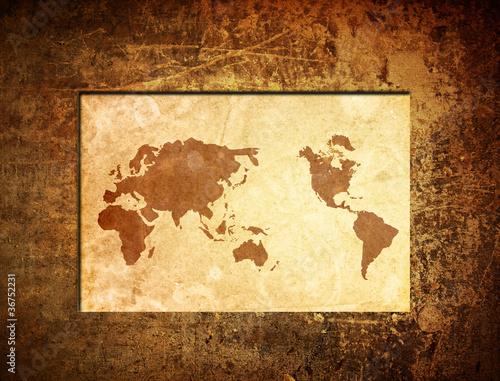 GamesAgeddon - scratch vintage world map. - Lizenzfreie Fotos ...