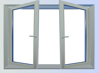 window isolated on white illustration