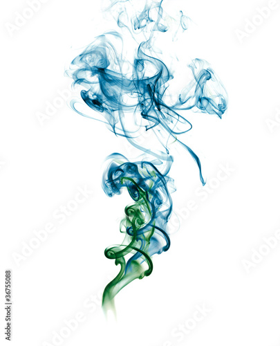Abstract blue green Smoke