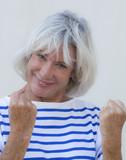 optimistic determined senior woman poster