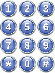 phone digits buttons