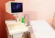 Patientenliege mit Ultraschallgerät
