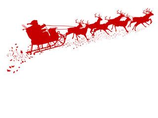Weihnachtsschlitte, Rentierschlitten, Weihnachtsmann