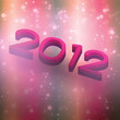 New year 2012 beautiful text effect