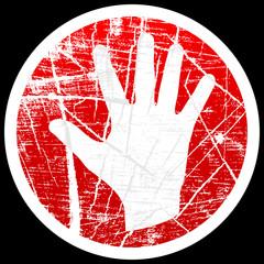human palm button