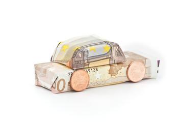 Geldscheinauto