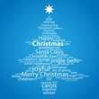 """CHRISTMAS"" Tag Cloud (tree icon card happy merry greetings)"