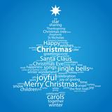 """CHRISTMAS"" Tag Cloud (tree icon card happy merry greetings)"