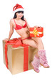 Mrs. Santa with gift box ....