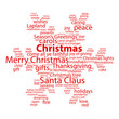 """CHRISTMAS"" Tag Cloud (tree icon happy merry snowflake card)"