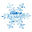 """CHRISTMAS"" Tag Cloud (snowflakes happy merry celebration card)"