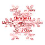 """CHRISTMAS"" Tag Cloud (tree icon happy merry snowflake card)"