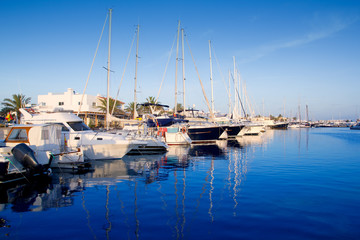 Formentera marina port in Balearic Islands