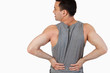 Man Having A Back Pain