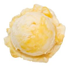 Eiskugel Buttermilch-Mango