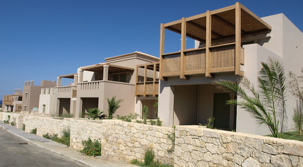 Single family housing development in Greece
