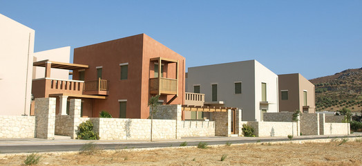 Single family housing development in Greece.