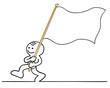 figur trägt fahne