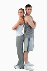 Portrait of a sports couple
