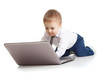 Child using a laptop