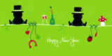 2 Sitting Chimney Sweepers & Symbols New Year´s Eve poster