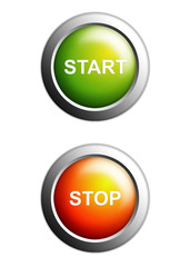 start and stop buttons isolated
