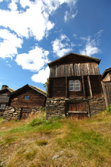 Typical wooden house in Norway, Scandinavia