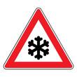 Verkehrsschild - 113 Schnee- oder Eisglätte