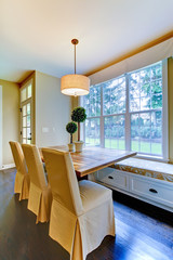 Breakfast dining rom table near the luxury kitchen.