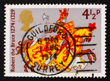 Postage stamp GB 1974 Robert the Bruce