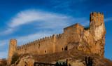 Castillo de Frias, Burgos, Castilla y León, España poster