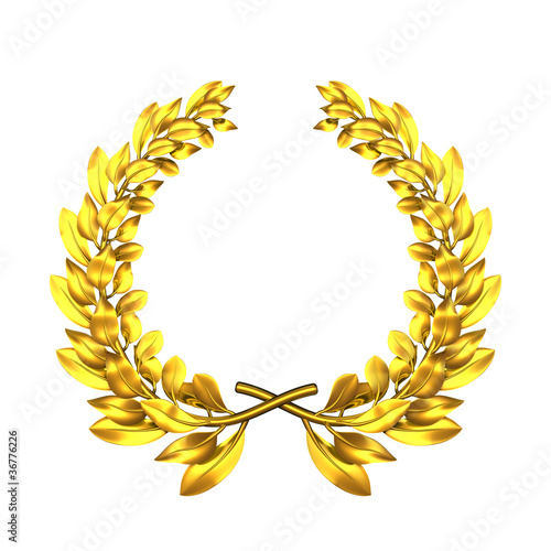 laurel wreath golden