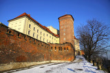 The tower of old Royal Wawel Castle in Krakow, Poland