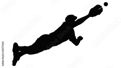 Baseball Diving Fielder