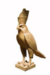 Egyptian god Horus isolated with clipping path