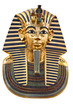 Copy of Tutankhamun's mask isolated with clipping path