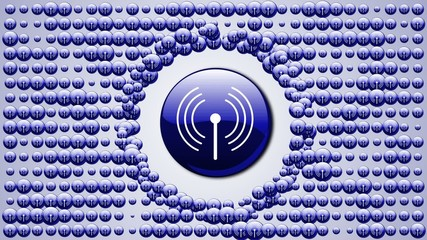 Wi-FI Button Background - HD1080