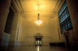 Elegant Empty Waiting Area in NYC's Grand Central Station