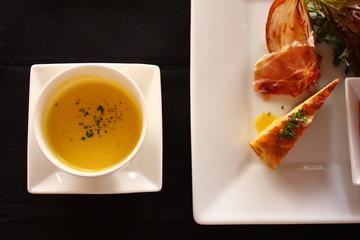 スープとオードブル