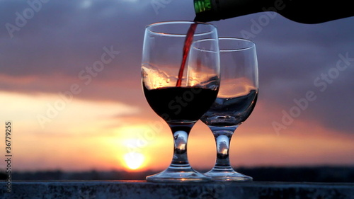Wine in Sunset