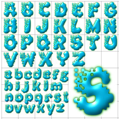 abc alphabet background splash design
