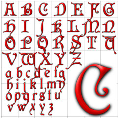 abc alphabet background cardinal design