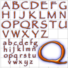 abc alphabet background parchment design